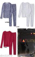 Girls Heatlite Thermal Underwear Base Layer 2 Pc Crew & Pant Set Msrp $30