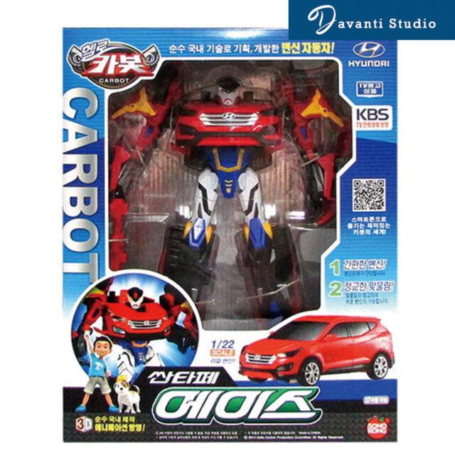 Hello CARBOT Santafe Ace Transformer Robot Korean Animation Car toy Hyundai