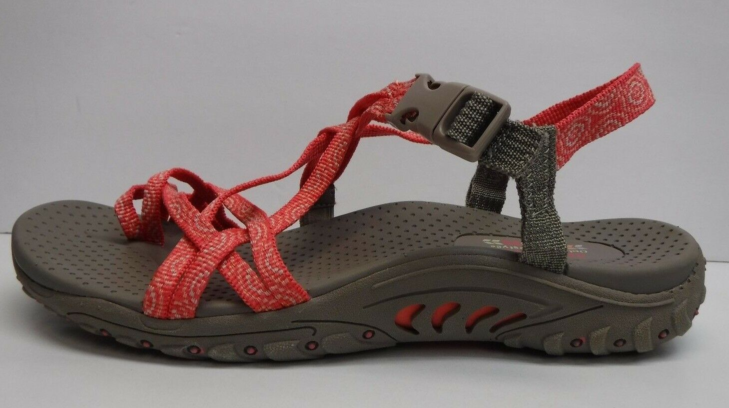 Skechers Size 10 Red Sandals New Donna Shoes