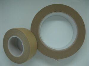 Brown-picture-framing-tape-self-adhesive-25m-or-50m-rolls-25mm-wide