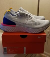 new arrival 97c1f 133f2 item 1 Nike Epic React Flyknit White Racer Blue Pink Blast AQ0067-101 Size  10 -Nike Epic React Flyknit White Racer Blue Pink Blast AQ0067-101 Size 10