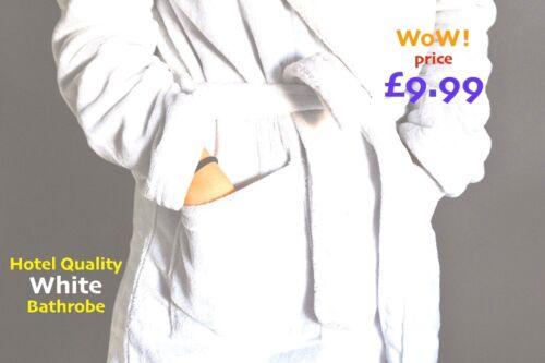 White Bath RobePure CottonHeavy WeightHotel QualityOne SizeUnisex