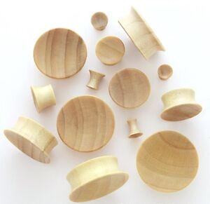 1 Pair 00g 10mm Tamarind Natural Organic Wood Concave Single BIG Flare Ear Plugs