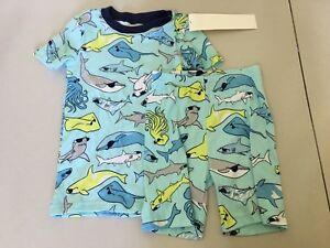 NWT Gymboree Boys gymmies Pajamas set shark Shortie many sizes