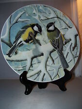 """Great Titmouse by Basil Ede 9"""" Collectors Bird Plate 1984"""