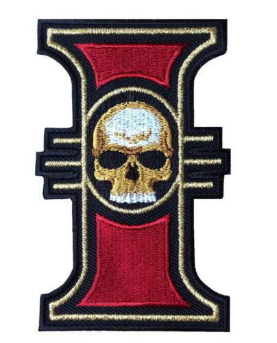 Chaos Star Imperial Inquisition Skull Warhammer 40K Game Iron on Patches