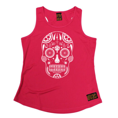 Cycle Skull Parts Cycling funnyáBirthdayáWOMENS GIRLIE TRAINING VEST