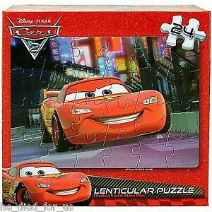 "Disney Pixar Cars Lenticular Jigsaw Puzzle 24 Pieces 12/"" x 9/"""