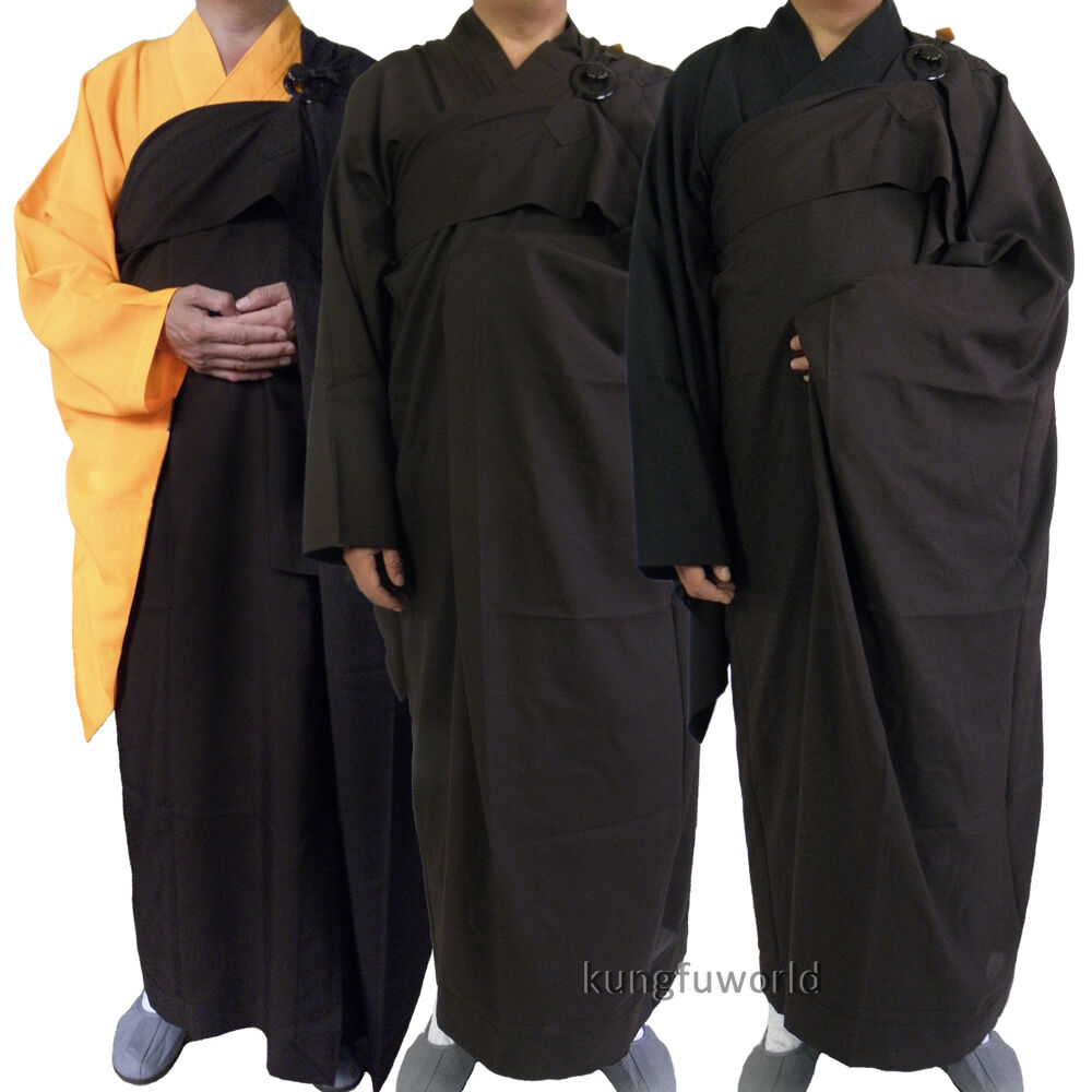 Shaolin Buddhist Monk Dress Kesa Haiqing Robe Meditation Suit Kung fu Uniform
