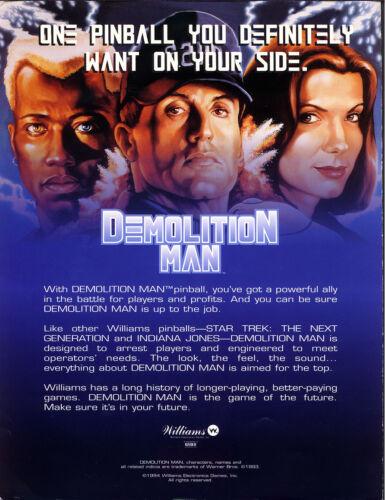 EPROM Demolition Man Pinball CPU Rom LX-4 Bally // Williams U6