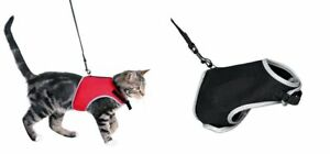 TRIXIE-XCAT-SOFT-CAT-REFLECTIVE-WALKING-HARNESS-JACKET-LEAD-SET-BLACK-OR-RED