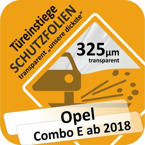 Opel Combo E ab 2018 Lackschutzfolie Türeinstiege Schweller Leisten