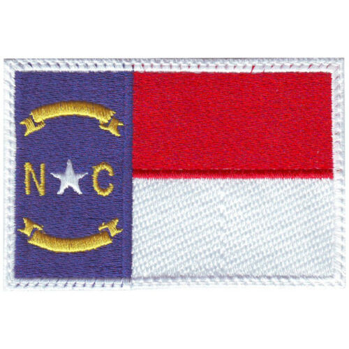 North Carolina Flag Embroidered Patch