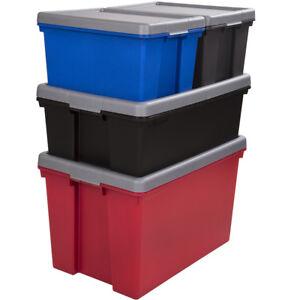 Schwerlast Transport Aufbewahrungsbox Deckel Stapelbox Kunststoff