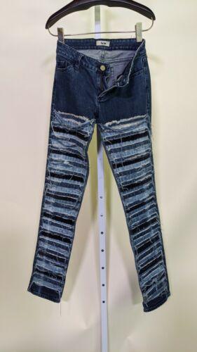 Acne AW10 Kex Slice Denim Collage Jeans Size 34 27