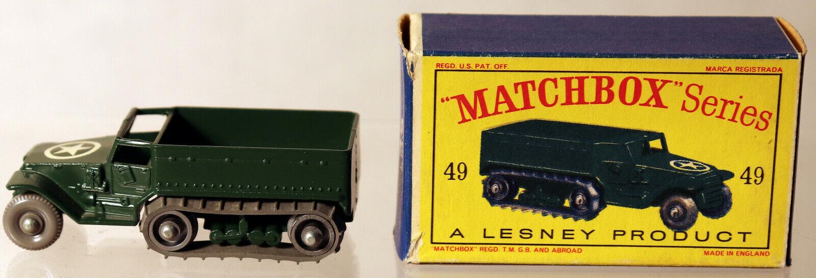 DTE LESNEY MATCHBOX REGULAR WHEELS 49-1 RARE SPR M3 PERSONNEL CARRIER W FINE GPW