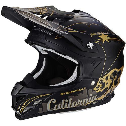 Casco Moto Cross Enduro Scorpion VX-15 Air Goldenstate