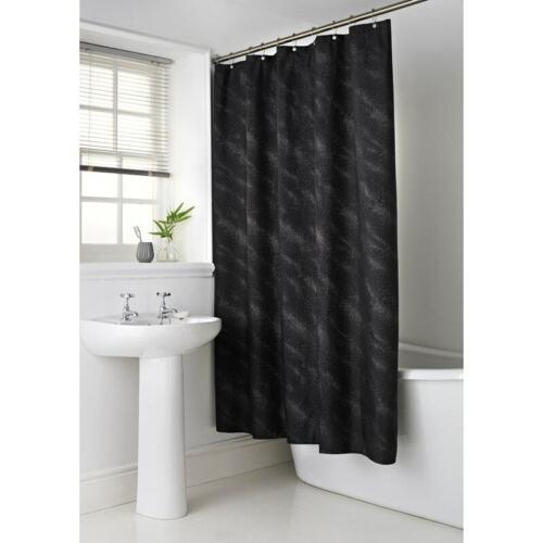 Elegant Sparkle Black Shower Curtain