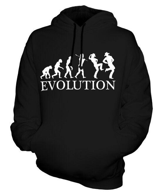 LINE DANCER EVOLUTION OF MAN UNISEX HOODIE  Herren Damenschuhe LADIES GIFT DANCING