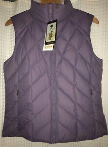 Goose-Down-Filled-Columbia-Vest-Sportswear-Company-Purple-violet-Women-size-Med
