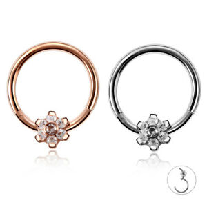 Surgical-Steel-CZ-Nose-Hoop-Hinged-Segment-Ring-Clicker-Daith-Conch-Piercing-16G