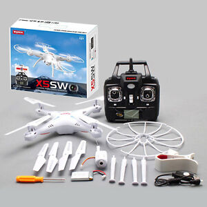 Drone Syma X5sw Wifi Fpv Rc 2.4ghz 4ch 6 Axes Rtf 2mp Hd Chambre 29206