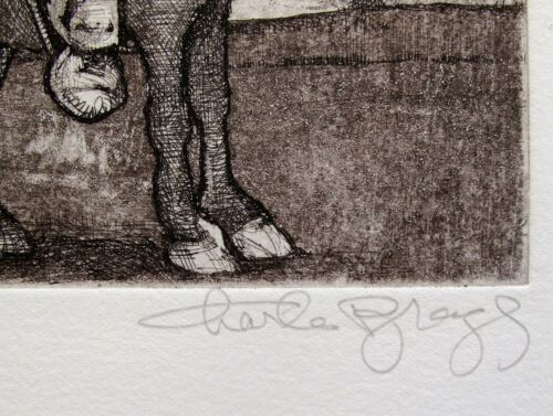 """CHARLES BRAGG /""""SANCHO PANZA/"""" Hand Signed Limited Edition Art Etching RARE!"""