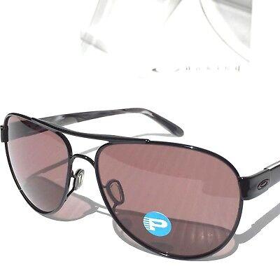 NEW  Oakley DISCLOSURE Black w POLARIZED Grey Lens Womens Sunglass 4110-04   180 2d3da7e2cb