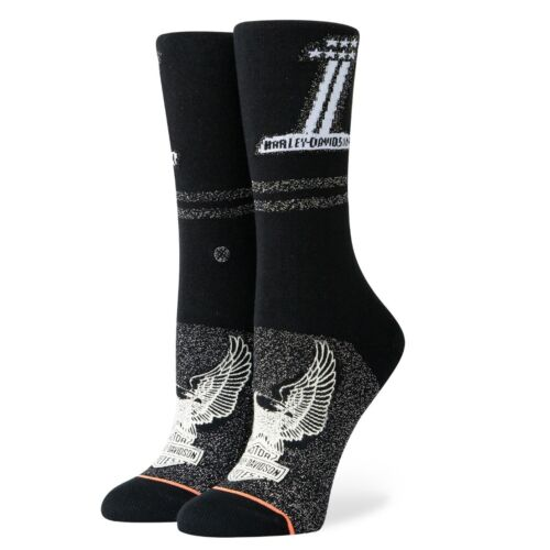 Stance NEW Women/'s Number One Harley Socks Black BNWT