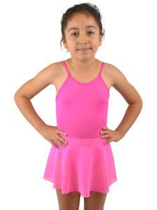Vivian-039-s-Fashions-Dancewear-Girls-Straps-Attached-Mesh-Skirt-Leotard
