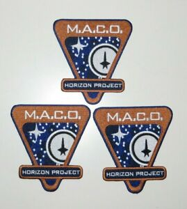 """Star Trek Horizon Project MACO 4"""" Embroidered Iron On Patch Set Of 3"""
