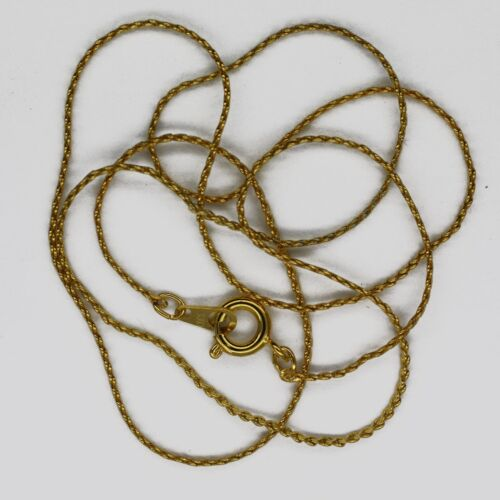 """18/"""" Serpentine Chain Necklace Gold Plated Spring Ring Clasp"""