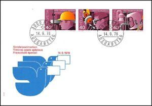 FDC-Suisse-Timbres-poste-speciaux-14-9-1978