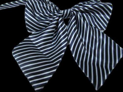 LADIES FASHION SATIN STYLE BOW NECK TIE CRAVAT 15 COLOURS PARTY FANCY DRESS UK