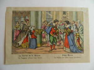 Incisione Epinal La Uscita Di La Messe - Dopo Messa