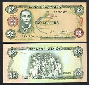JAMAICA-2-Dollars-1992-Banknote-P69d-P-69d-UNC
