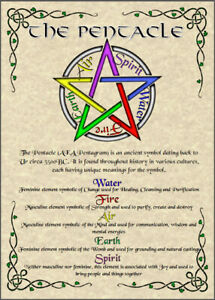 Pentacle-Poster-5x7-Wicca-Pagan-New-Age-Goth-Witch-Spirit-Pentagram-Magic-Soul