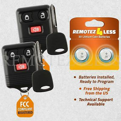 2 Car Fob Entry Remote Red For 1999 2000 2001 2002 2003 2004 2005 Ford Ranger