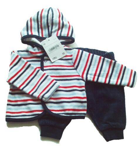 Nicki Set Gr.56 Baby Club NEU Jacke Hose velour baby blau rot weiß