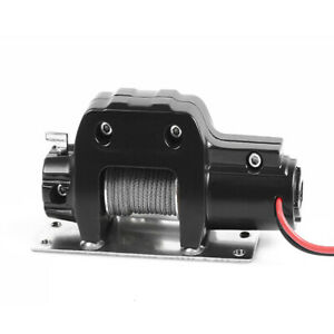 Aluminum-RC-Scale-1-10-Electric-Winch-Single-Controller-For-Axial-SCX10-Crawler