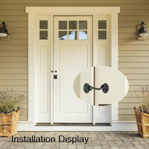 2pcs Cabin Hook Eye Latch Privacy Hook w Screw for Slider Window Barn