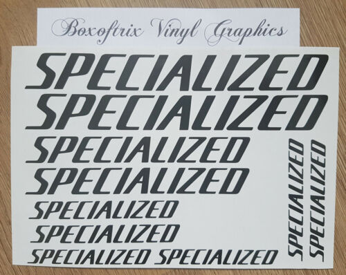 10 x Specialized Vinyl Decal Stickers - Bike, Cycle, Bicycle Frame, MTB