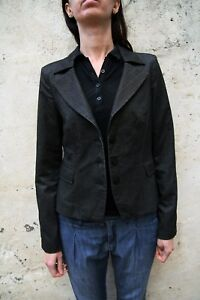 Rayée Noir Blazer Jeans Décontractée Gris Armani Veste Aj Eté 81wx0aq