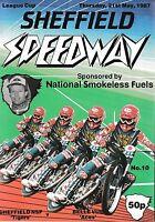 Speedway Programme>SHEFFIELD TIGERS v BELLE VUE May 1987