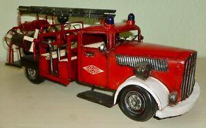 Blechspielzeug Logisch Oldtimer Feuerwehr Blech Retro Vintage Standmodell Deko Länge Ca 40,8cm Preisnachlass Autos & Busse