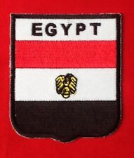 EGYPT EGYPTIAN AFRICAN NATIONAL COUNTRY FLAG BADGE IRON SEW ON PATCH CREST