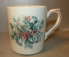 NEW Large Coffee Mug Holly,  Filet Noël pattern Gien