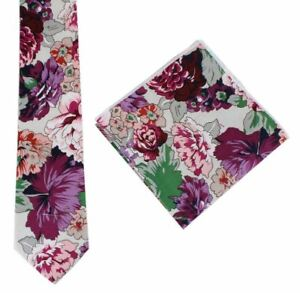 8d2c661b7469 Image is loading Knightsbridge-Neckwear-Mens-Floral-Tie-and-Pocket-Square-