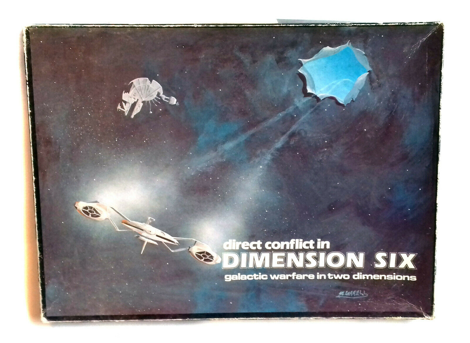 Vintage '77 Direct Conflict in Dimension 6 Galactic Warfare in 2D RPG Board Game