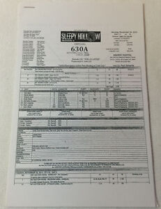 2014 Fox tv show SLEEPY HOLLOW set used CALL SHEET+Sides~Season 2, Episode 15